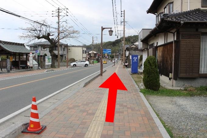 宮地嶽神社の参道までの道1