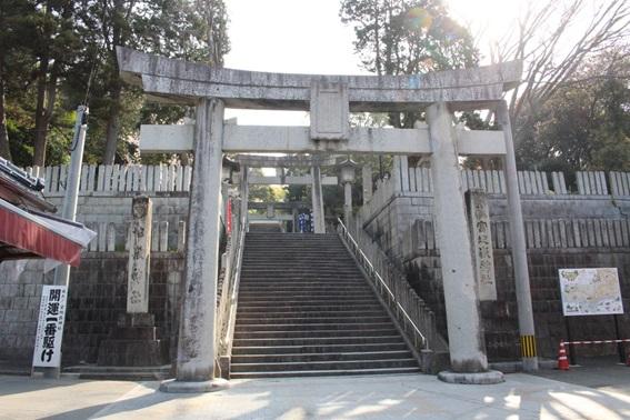 宮地嶽神社の参道の写真